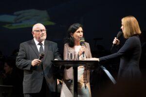 Im interessanten Eröffnungs-speech waren Manfred Wagner, sowie die Damen Danielle Spera und Barbara Stöckl. Foto: Daniel Hinterramskogler