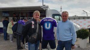 Auch die beiden Austria-Legenden und oftmaligen ÖFB-Auswahlspieler Andreas Ogris (links), sowie Robert Sara waren anlässlich der Eröffnung mit von der Partie. Foto: FAK