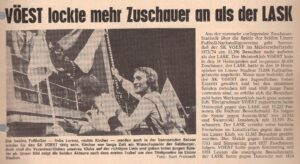 Zuschauer-Statistik beim SK VÖEST Linz 1973/74. Faksimile VÖEST-SPORT Nummer 80 / Juli 1974. Sammlung oepb