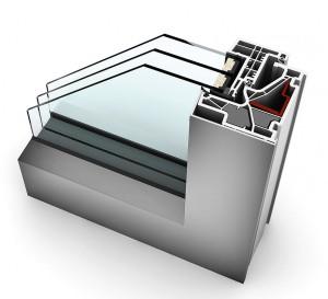 """Wer beim Fensterkauf auf Internorm setzt, erhält Qualität zum attraktiven Preis. Die Aktion """"3. Glas gratis"""" gilt bis 24.11.2017. Im Bild: Kunststoff/Aluminium KF 500. Foto: Internorm"""