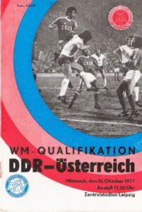 10seitiges Din A5-Programmheft des DFV/Deutscher Fußball-Verband der DDR. Sammlung: oepb