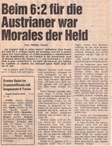 """Der heute nicht mehr existente """"Express"""" wusste nach Austria´s 6 : 2 über RAPID am 17. April 1974 folgendes zu berichten. Sammlung: oepb"""