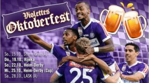 Der an und für sich bunte Oktober könnte ein komplett Violetter werden. Man wird sehen. Foto: FK Austria Wien