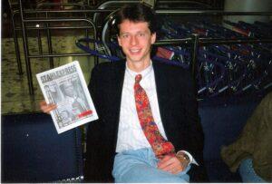 Peter Schöttel am 13. November 1994 vor dem Trip nach Lissabon zum Länderspiel Portugal gegen Österreich (1 : 0). Foto: oepb