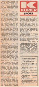 KURIER-Artikel am 4. September 1981 nach dem Wiener Derby im ÖFB-Cup Achtelfinale. Sammlung: oepb