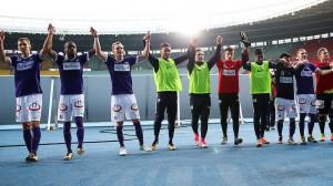 Der FK Austria Wien bereitet derzeit wieder großen Spaß. Der Besuch eines Heimspieles im Wiener Ernst Happel-Stadion lohnt sich auf alle Fälle. Foto: GEPA