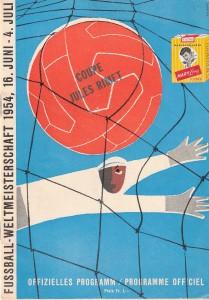 Offizielles Din A5-WM-Programm vom 3. Juli 1954. Sammlung: oepb