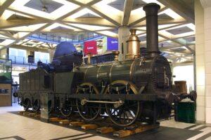 """Bei der """"Ajax"""" handelte es sich um eine Güterzug-Dampflokomotive der Kaiser Ferdinand-Nordbahn des Jahres 1841. Sie hatte eine Gewicht von 28,7 t. Foto: Technisches Museum Wien"""