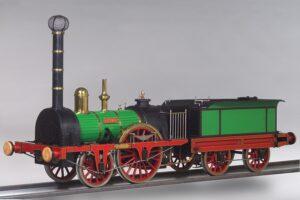 Dies ist ein Modell der Dampflokomotive Austria der Kaiser Ferdinand-Nordbahn. Anno 1837 erbaute, schwankte das Gewicht zwischen 18 und 19 t. Foto: Technisches Museum Wien