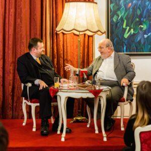 v. l.: Martin Haidinger und Karl Vocelka / Die original Wiener Zeitenwandler. Foto: peterberger.at