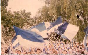 Blick auf den Sektor 3 im Linzer Stadion. Dort versammelten sich in den 1970er und 1980er Jahren die treuen Fans des SK VÖEST Linz. Das Fanwesen unter Gottes freiem Himmel gehört nun der Vergangenheit an. Foto: Erwin H. Aglas / oepb