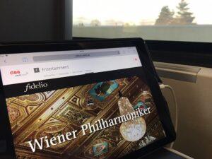 """Die Klassik-Highlights des Portals """"fidelio"""" sind im ÖBB Railjet für alle Klassen immer und überall abrufbar. Foto: ÖBB / Krautschneider"""