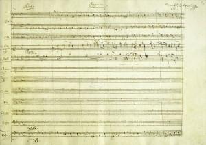 Requiem, Wolfgang Amadeus Mozart, 1791. Foto: Österreichische Nationalbibliothek