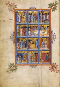 Evangeliar des Johannes von Troppau, 1368. Foto: Österreichische Nationalbibliothek