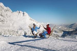 In der Ski- und Weingenuss-Woche im März 2018 werden anhand zahlreicher Veranstaltungen die Themen österreichische Weinkultur und regionale Produkte gepriesen. Foto: © Ski amdé