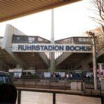 Das Ruhrstadion ist die Heimstätte des Vfl Bochum. Am 25. August 1987 waren hier beim Derby gegen den FC Schalke 04 über 45.000 Zuschauer im total überfüllten Stadion zugegen, wobei gut zwei Drittel im Lager der ³Königsblauen Knappen² gestanden sind. Foto: oepb