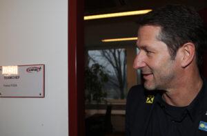 Franco Foda vor seinem ÖFB-Büro im Wiener Ernst Happel-Stadion. Foto: GEPA