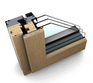 Noch bis 28. Februar 2018 sind alle Fenster und Türen von Internorm zum günstigeren Vorjahrespreis von 2017 erhältlich  zum Beispiel das hochwertige Holz/Aluminium-Modell HF 410. Foto: Internorm