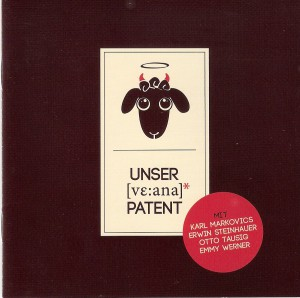 CD-Cover UNSER *WEANA PATENT