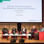 Im Bild von links: Aldo Sohm, Jancis Robinson, Willi Klinger, Monika Christmann, sowie Franz Reinhard Weninger. Foto: ÖWM / Anna Stöcher