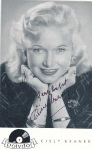 Gisela Cissy Kraner Autogrammkarte
