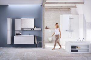 Perfekte Balance aus Design und Funktionalität  Geberit Produkte sind dafür ein perfektes Beispiel. Foto: Geberit