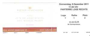 """""""Ausverkauft!"""" war die Fest-Matinee zum 100. Geburtstag von Marcel Prawy am 8. Dezember 2011 in der Wiener Staatsoper. Und die waren alle gekommen - Bekannte, Kollegen, Freunde, Weggefährten um sich gemeinsam an den unvergleichlichen Jubilar zu erinnern. Sammlung: oepb"""