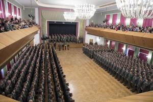 Die ausgemusterten Wachtmeister in der Stadthalle in Enns / OÖ. Foto: Bundesheer / Simader