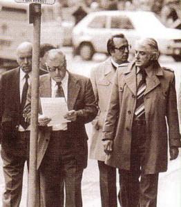 Oberstleutnant Leo Maier, später besser als Krimiautor Leo Frank bekannt, hier rechts im Bild, war die ganze Zeit vor Ort. Foto: privat/oepb