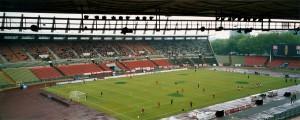 Das heute nicht mehr existente Rheinstadion zu Düsseldorf - hier im Juni 2001 - erlebte vor 40 Jahren, am 29. April 1978, den höchsten Bundesliga-Erfolg in der Geschichte des Deutschen Klubfußballs. Foto: oepb