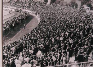 32.000 Besucher bevölkerten das Linzer Stadion, als am 1. Mai 1968 der ÖFB mit einem Länderspiel erstmals außerhalb von Wien antrat. Foto: oepb