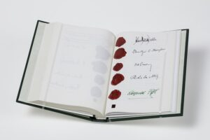 Faksimile Staatsvertrag aus Landessammlungen Niederösterreich. Foto: Christoph Fuchs