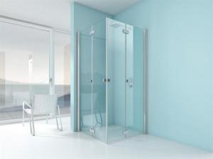 Die Falttüren der ARTWEGER 360 lassen sich einfach nach innen und außen wegfalten und der Duschraum wird zum erweiterten Badezimmer. Foto: ARTWEGER
