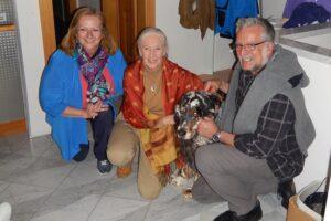 Gaby und Harald Schwammer mit Jane Goodall. Foto: Archiv Schwammer