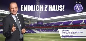"""""""Endlich z`Haus"""" - so lautet die neue Plakat-Kampagne des FK Austria Wien. Foto: FAK"""