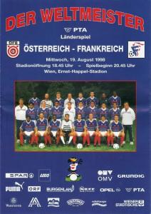 Cover vom offiziellen ÖFB-Matchprogramm an diesem Tag. Sammlung: oepb