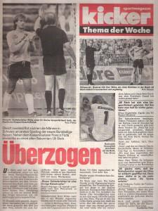 kicker-Faksimile vom Juli 1988. Ein gewisser Franco Foda sah damals übrigens auch ROT. Sammlung: oepb