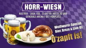 """Die Wiener Austria lädt erstmals zur """"Horr-Wiesn"""". Die Feierlichkeiten steigen am Sonntag, 23. September 2018 ab 11:30 Uhr. Foto: FAK"""