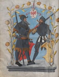 """Illustration aus dem """"Ambraser Heldenbuch"""". Foto: Österreichische Nationalbibliothek"""