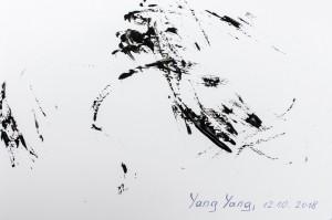 Der große Künstler Yang Yang beim Signieren seiner Bücher. Foto: Daniel Zupanc