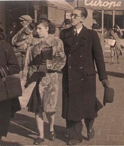 Das noch nicht verheiratete Paar Bärbel Dohnalek und Erwin H. Aglas im Frühling 1943 in Wien. Foto: oepb