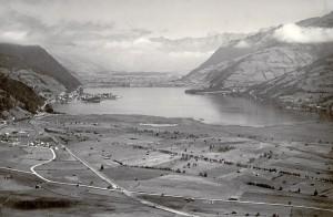 Landschaftliches Idyll in der Zwischenkriegszeit: Der Zeller See in Salzburg. Foto: ÖNB