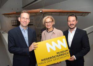 m Bild von links: Christian Rapp (wissenschaftlicher Leiter), Landeshauptfrau Johanna Mikl-Leitner, sowie Geschäftsführer Matthias Pacher. Foto: NLK Pfeiffer