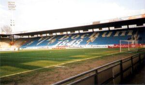 Blick ins Ruhrstadion zu Bochum, der Heimstätte des derzeit in der 2. Deutschen Bundesliga beheimateten VfL Bochum von 1848. Foto: oepb