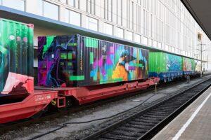 Noah¹s Train ist nicht nur das längste mobiles Kunstwerk der Welt, sondern auch das Synonym für grünen Transport auf der Schiene. Foto: ÖBB / David Payr