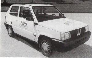 Die Geschichte des E-Autos ist nicht neu. Bereits vor über 30 Jahren stellte die OKA (heutige Energie AG, Linz) anlässlich der Herbstmesse 1988 in Wels das Elektro-Auto vor. Der Prototyp - ein Fiat Panda, siehe Bild - kam im Stadtverkehr auf 55 km/h und erreichte eine Höchstgeschwindigkeit von 80 Stundenkilometern. Die Energiekosten damals betrugen 50 Groschen (zirka 4 Cent) pro Kilometer. Foto: OKA/oepb