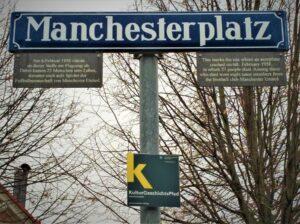 Der Manchester-Platz in München. Foto: oepb