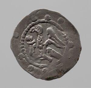 Pfennig (Vorderseite), Leopold V. (1177-1194). Foto: KHM-Museumsverband