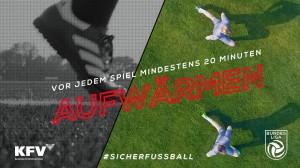Mit der Österreichischen Fußball-Bundesliga und dem Kuratorium für Verkehrssicherheit gesund am Platz – gemeinsame Kampagne #SICHERFUSSBALL. Grafik: Österreichische Fußball-Bundesliga