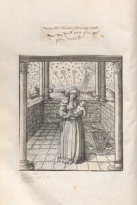"""Die Geburt Maximilians im """"Weißkunig"""" unter himmlischen Vorzeichen. Foto: Österreichische Nationalbibliothek"""